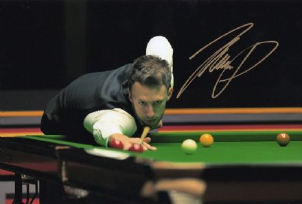 Judd Trump, English snooker player, signed 12x8 inch photo.